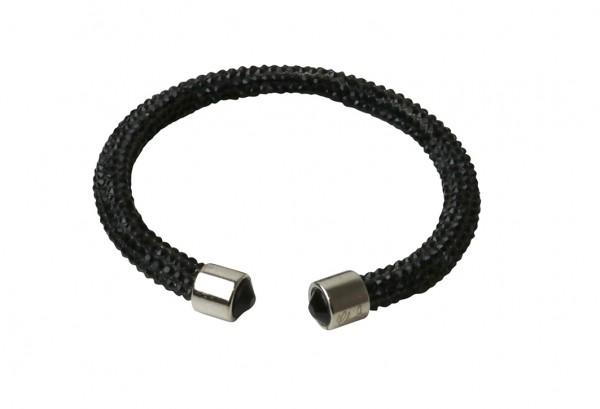 VE Armband Crystalshine schwarz, einlagig (6 Stk.)