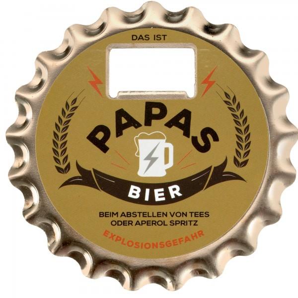 Bieröffner/Untersetzer/Magnet-Papas