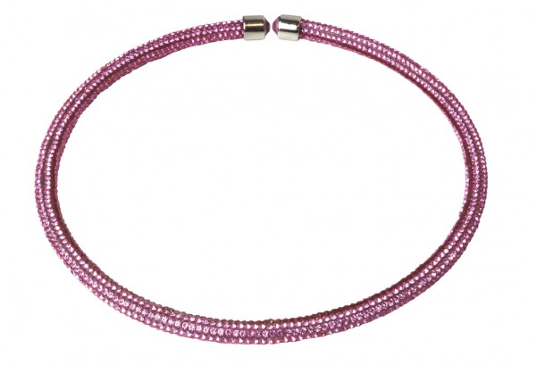 VE Kette Crystalshine rosé, Choker (3 Stk.)