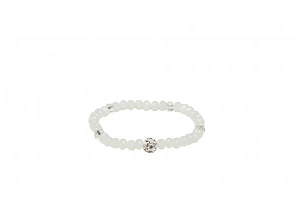 VE Armband Casual Glam weiß, Petit Glass (6 Stk.)