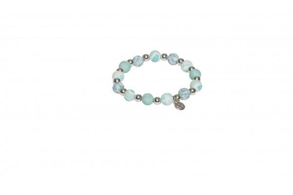 VE Armband Bahian Spirit blau/grau, Silberperlen (3 Stk.)