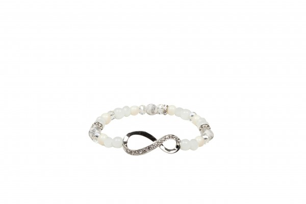 VE Armband Casual Glam weiß, Infinity (3 Stk.)