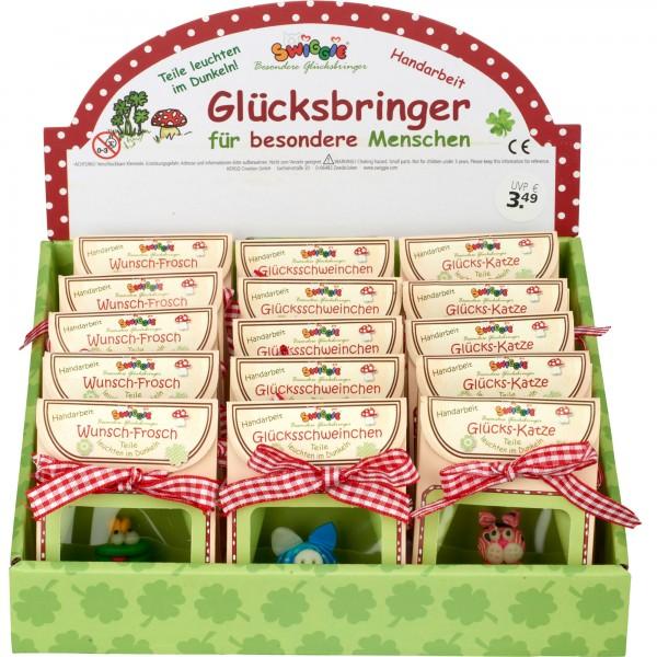 Set Montierte Glücks-Bringer in Geschenkverp., 21 Stk, sort