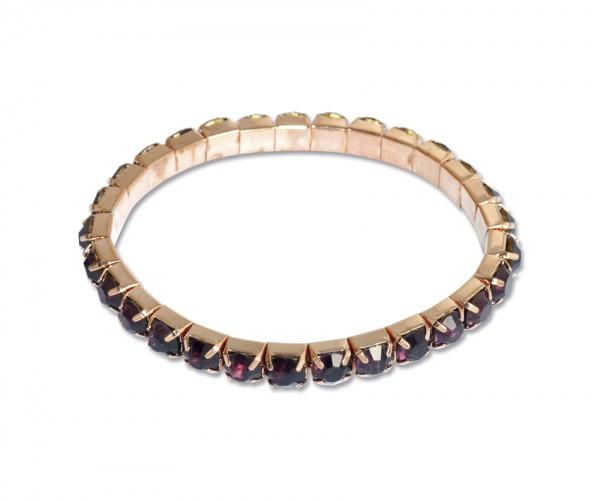 VE Armband Royal Agate (lila/kupfer) (3 Stk.)