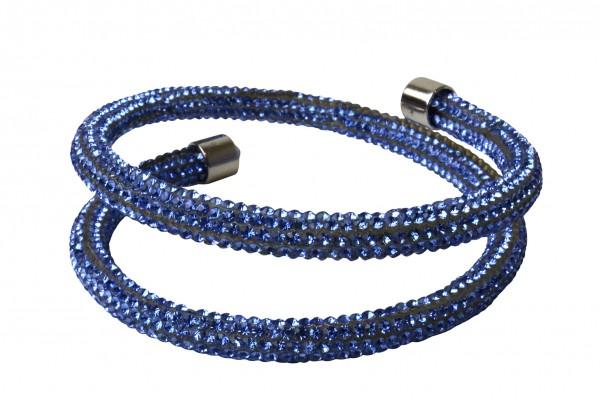 VE Armband Crystalshine blau, zweilagig (3 Stk.)