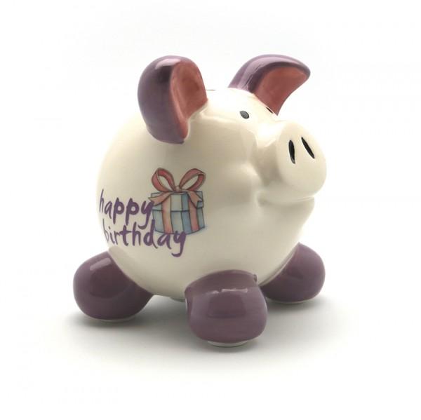 Sparschwein Happy Birthday M