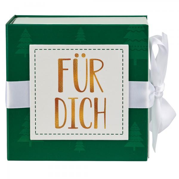 Geschenkschachtel mit Band 10 x 10 cm, Für Dich