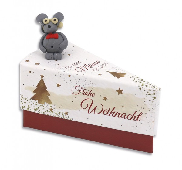 """Tortenstück Weihnachten """"Mäuse"""""""