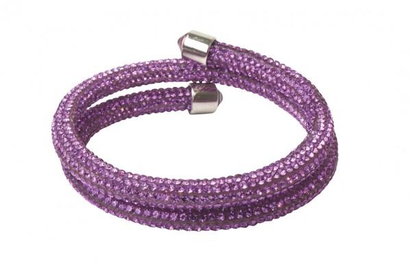 VE Armband Crystalshine magenta, zweilagig (3 Stk.)