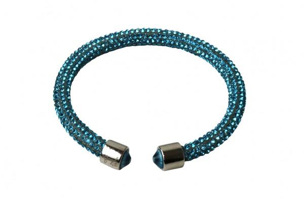 VE Armband Crystalshine türkis, einlagig (6 Stk.)
