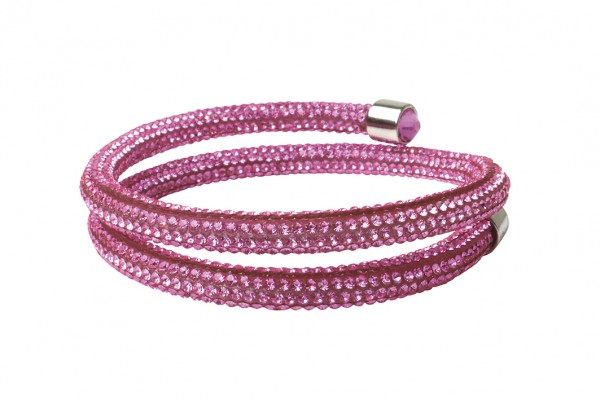 VE Armband Crystalshine rosé, zweilagig (3 Stk.)