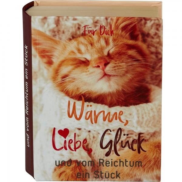 """Geschenkschachtel """"Buch"""" - Wärme, Liebe,…"""