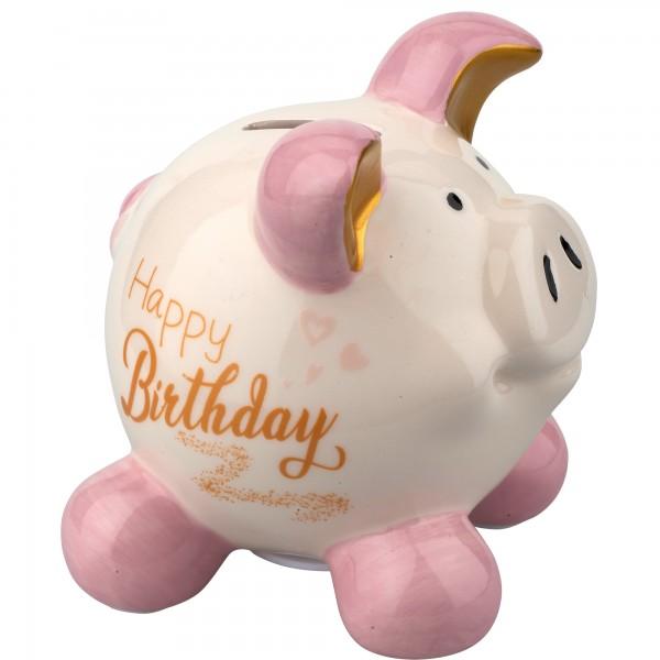 Little Luck Sparschwein Happy Birthday M