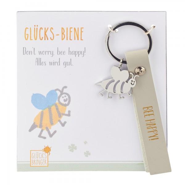Schlüsselanhänger mit Glücksbringer, Biene