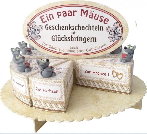 Geschenkschachtel-Set Hochzeitsmäuse, 24 Stk