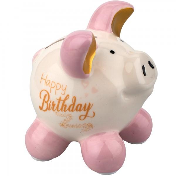 Little Luck Sparschwein Happy Birthday S