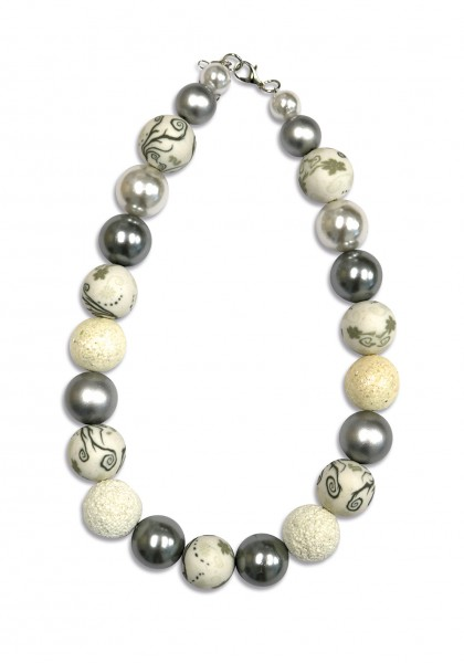 VE Kette Chunky Casual Glam weiß (3 Stck.)