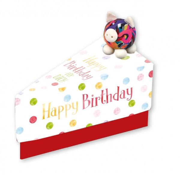 Geschenkschachtel Happy Birthday Punkte