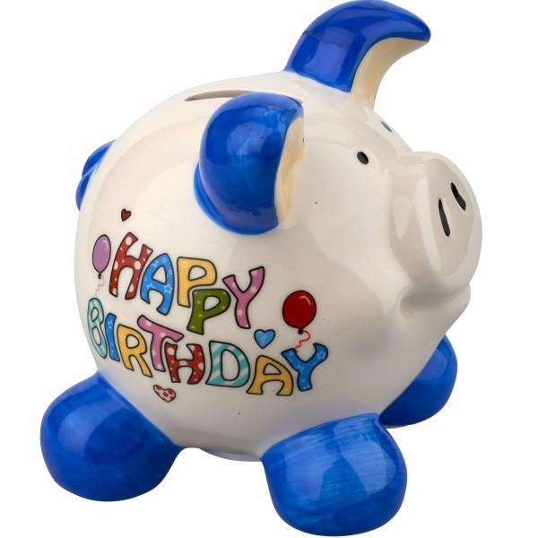 Sparschwein Happy Birthday S