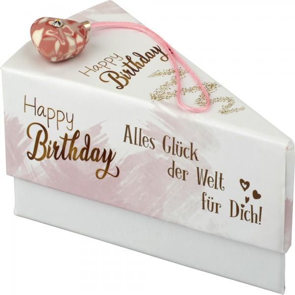 """Tortenstück """"Happy Birthday eng."""""""