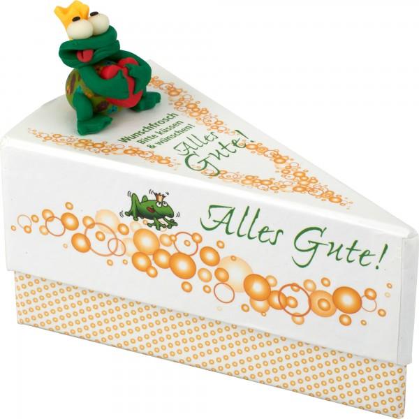 Geschenkschachtel Frosch/Alles Gute