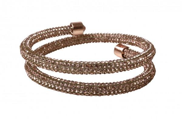 VE Armband Crystalshine nude, zweilagig (3 Stk.)