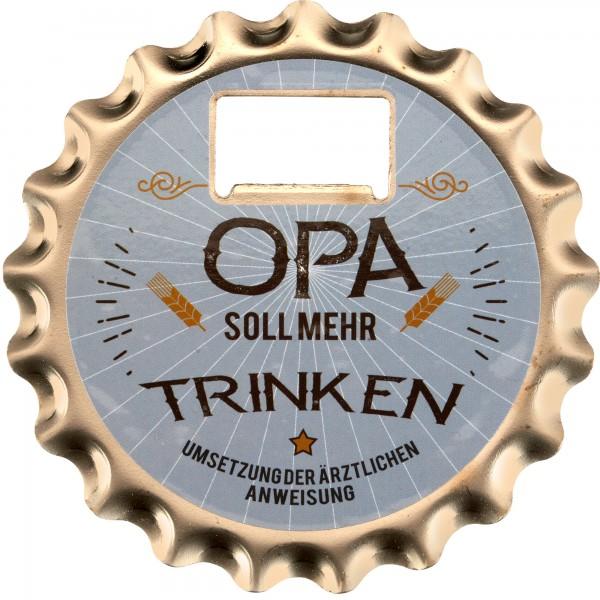 Bieröffner/Untersetzer/Magnet-Opa