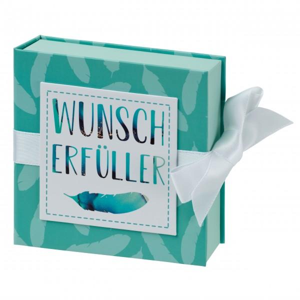 Geschenkschachtel mit Band 10 x 10 cm, Wunscherfüller