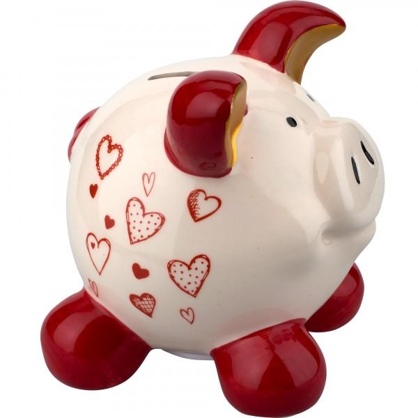 Sparschwein Herzen klein