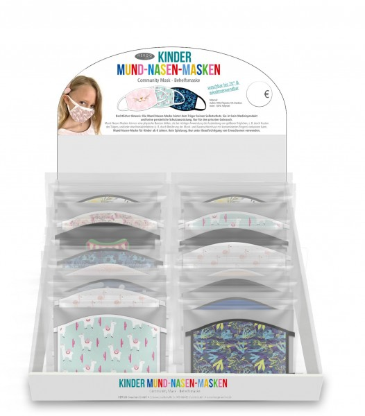 Kinder Set 1 Mund-Nasen-Masken ink Display, 42 Stk