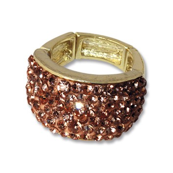 VE Ring Wave Amber (gold/rot) (3 Stk.)