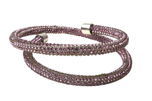 VE Armband Crystalshine lila, zweilagig (3 Stk.)