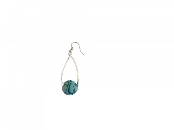 VE Ohrhänger Swirl Jade (grün/silber) (5 Stk.)