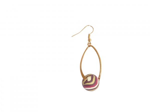 VE Ohrhänger Swirl Amber (gold/rot) (5 Stk.)