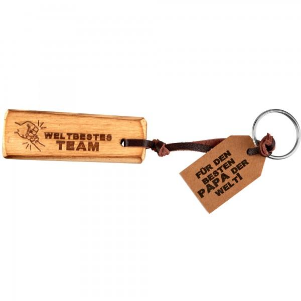 Schlüsselanhänger Holz- unschlagbares Team