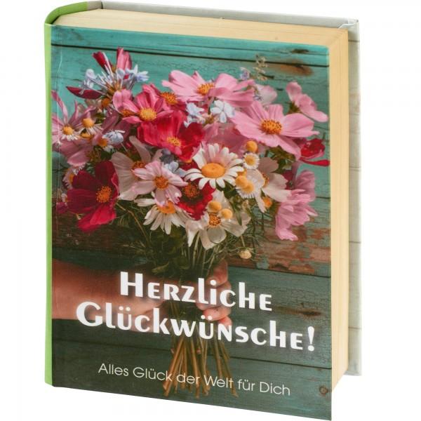 "Geschenkschachtel ""Buch"" -Herzliche Glückwünsche"