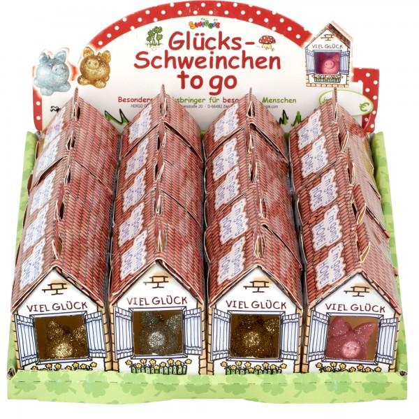 Set Glücksschweinchen to Go im Display going, 20 Stk, sort